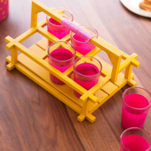 Chai Glasses - Pink and Chrome-0
