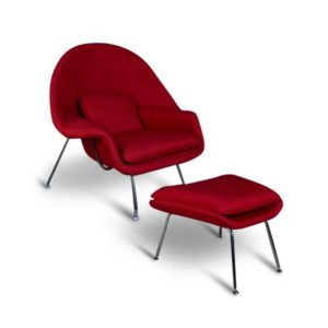 Womb Chair And Ottoman Replica - Red-0