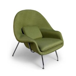 Womb Chair And Ottoman Replica - Green-780