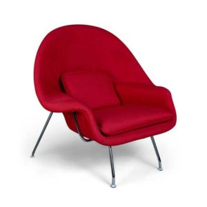 Womb Chair And Ottoman Replica - Red-537