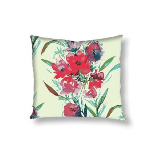 Water Flowers Cushion Cover-0