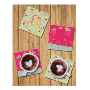 Chatter Chatter Birds Coasters (Set of 4)-1246