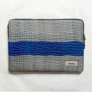 Laptop Sleeve - 15 Inches - Grey and Blue-0