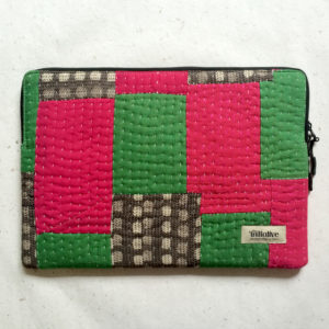 Laptop Sleeve - 15 Inches - Pink and Green-0