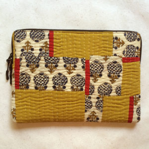 Laptop Sleeve - 13 Inches - Mustard and Red-1184
