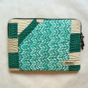 Laptop Sleeve - 13 Inches - Cyan and Green-0