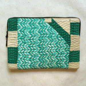 Laptop Sleeve - 13 Inches - Cyan and Green-1196