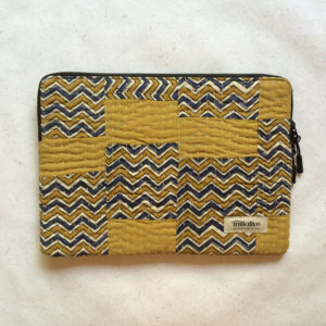 Laptop Sleeve - 13 Inches - Mustard and Blue-0