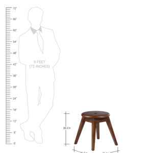 Addison Stool in Brown Colour -2801
