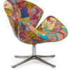 Patchwork Modern Leisure Chair in Multi Colour -0