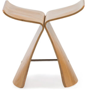 The Butterfly Stool in Natural Finish -0