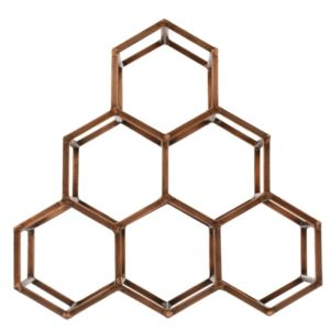 Beehive Table Wine & Bar Rack - Antique Copper -2314