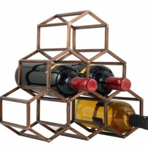 Beehive Table Wine & Bar Rack - Antique Copper -0