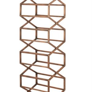 Beehive Wall Wine & Bar Rack - Antique Copper -2323