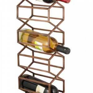 Beehive Wall Wine & Bar Rack - Antique Copper -0