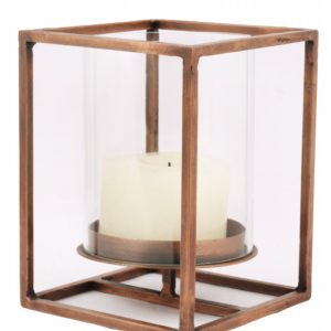 Cuboid Candleholder - Antique Copper (Small)-0