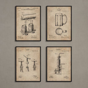 Bar Series - Bar Essentials (Set of 4) Without Frame-0