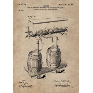 Patent Document of a Cold Air Pressure Apparatus for Beer With Frame-3288