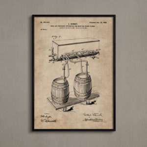 Patent Document of a Cold Air Pressure Apparatus for Beer With Frame-0