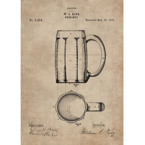 Patent Document of a Beer Mug Without Frame-0