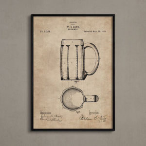 Patent Document of a Beer Mug With Frame-0