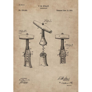 Patent Document of a Cork Screw With Frame-3311