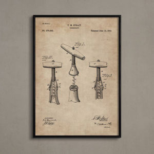 Patent Document of a Cork Screw With Frame-0