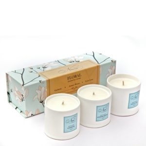 Floral Collection - Set of 3 Candles-0
