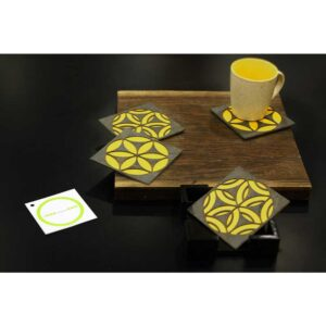 Circling Coterie - Yellow Coasters-3929