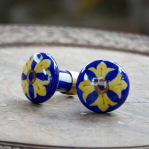 Knobs - Blue And Yellow-0