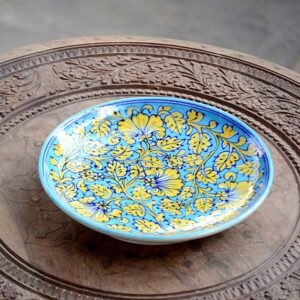Platter - Sky Blue And Yellow-0