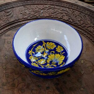 Bowl - Blue And Gold-4164