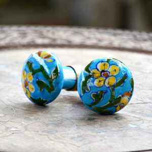Knobs - Floral Yellow-0