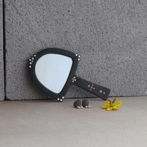 Bejewel Hand Mirror Arched-0