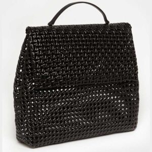 Black Recycled Plastic Weave Sling Bag-5237