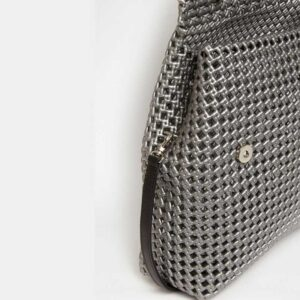 Grey Recycled Plastic Weave Sling Bag-5299