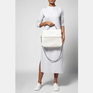 White Recycled Plastic Weave Sling Bag-5320