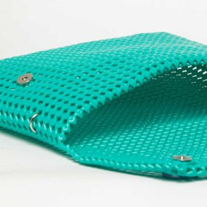 Green Recycled Plastic Weave Clutch-5349