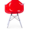 The S Replica Chair in Red Finish -0