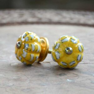 Knobs - Yellow And White-0
